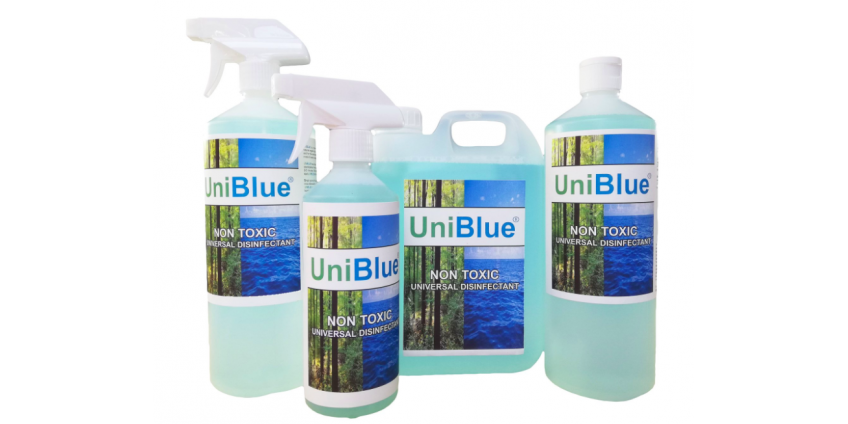 UniBlue: Non-Toxic Universal Disinfection