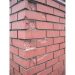 Frost spalling damage to bricks and stone